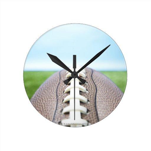 Football on Grass 2 Wall Clocks