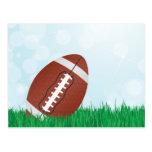football on grass postcard
