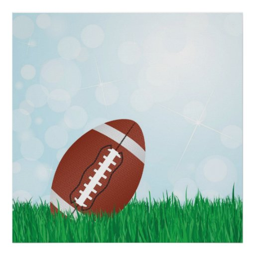 football on grass posters