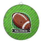 Football on Green Stripes Dartboards