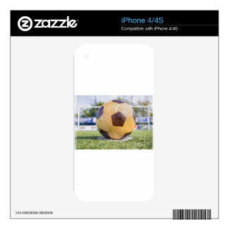 football on penalty spot with goal iPhone 4 skin