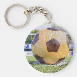 football on penalty spot with goal keychain