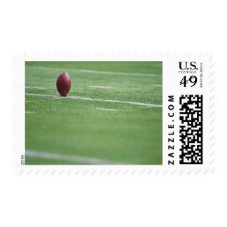 Football on Tee Postage Stamps