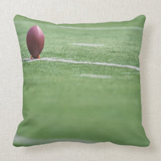 Football on Tee Throw Pillow