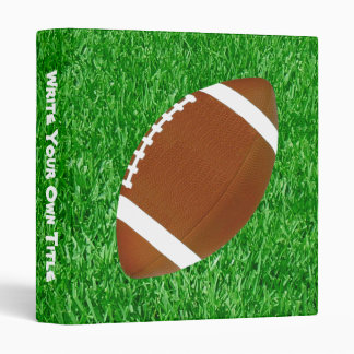 Football On The Lawn 3 Ring Binder