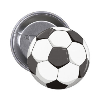 Football or Soccer ball 2 Inch Round Button