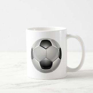 football or soccer ball mug