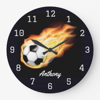 Soccer personalized Large Clock
