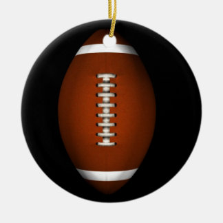Football Double-Sided Ceramic Round Christmas Ornament