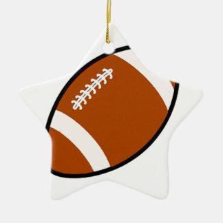 Football Ceramic Star Ornament