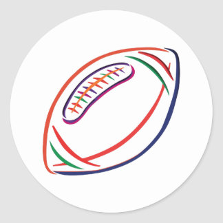Football Outline Classic Round Sticker