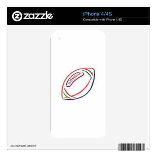 Football Outline Skins For iPhone 4