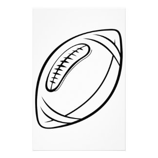 Football Outline Stationery