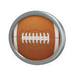 Football Oval Belt Buckle