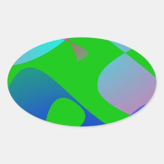 Football Oval Sticker