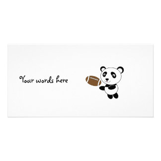 Football panda picture card