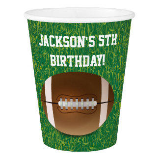 Football Paper Cups   Birthday Party Ideas
