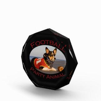 Football Party Animal Acrylic Award