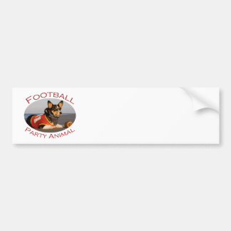 Football Party Animal Bumper Sticker
