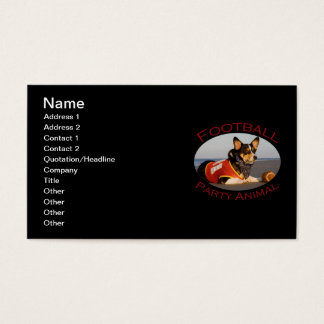Football Party Animal Business Card