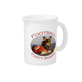 Football Party Animal Drink Pitchers