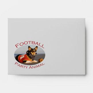 Football Party Animal Envelopes