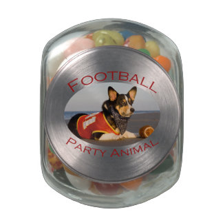 Football Party Animal Glass Jars