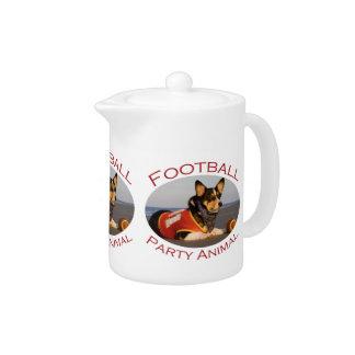 Football Party Animal Teapot
