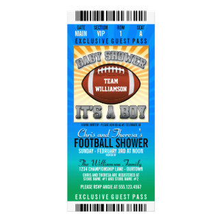 Football Party Baby Shower Custom Announcement