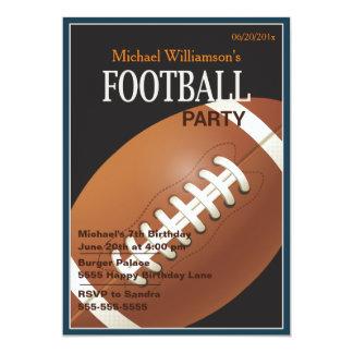 Football Party Birthday Invitation