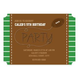 "FOOTBALL PARTY Birthday Kids Typography Invitation 5"" X 7"" Invitation Card"