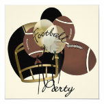 "Football Party by SRF 5.25"" Square Invitation Card"