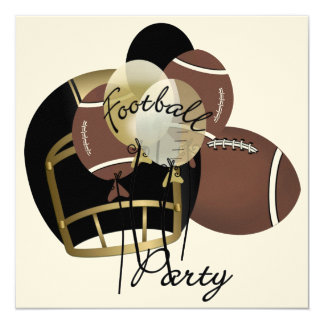 Football Party by SRF 5.25x5.25 Square Paper Invitation Card