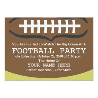 """Football Party Invitation 5"""" X 7"""" Invitation Card"""