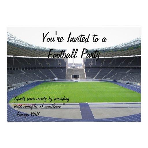 Football Party Custom Invite