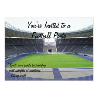 Football Party 5x7 Paper Invitation Card