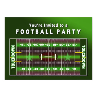 FOOTBALL PARTY INVITATIONS - FIELD