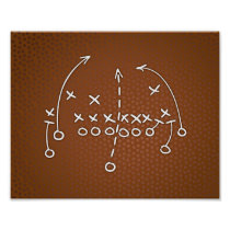 Football Party PLAYBOOK IV Sign Print
