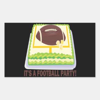 Football Party Rectangular Sticker