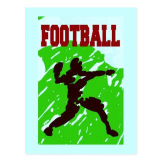 FOOTBALL PASS POSTCARD