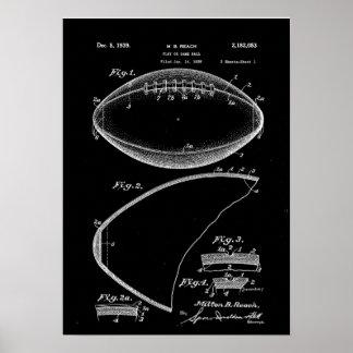 Football Patent Art, American Football Patent, Foo Poster