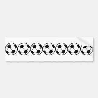 Football pattern bumper sticker
