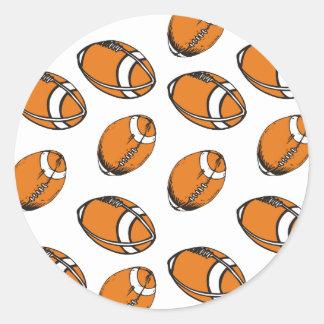 football pattern classic round sticker