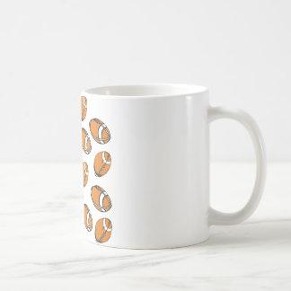 football pattern classic white coffee mug