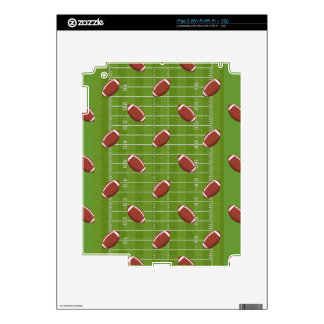 Football Pattern & Field Background: Ipad 2 Skins