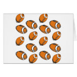 football pattern greeting cards