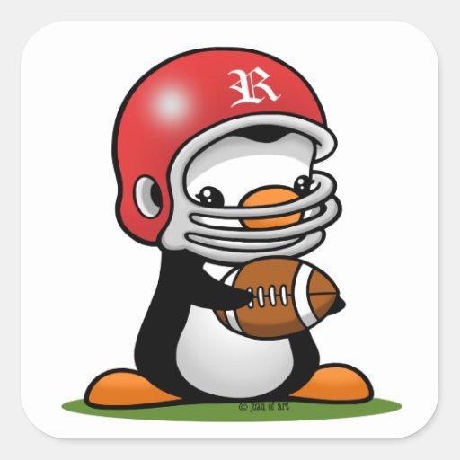 Football Penguin Square Sticker