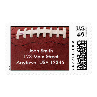 Football - Personalized Address Stamps