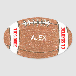 Football personalized bookplates for kids