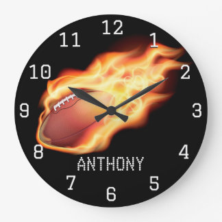 Football Personalized Large Clock